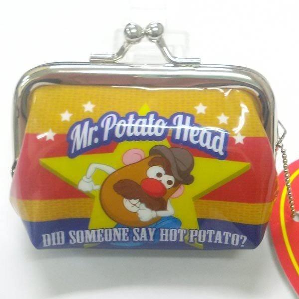 尼德斯Nydus~*  迪士尼 玩具總動員 馬鈴薯先生 Mr.Potato 雙珠扣零錢包 雙扣 約7x8cm
