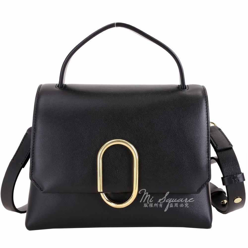 米蘭廣場 3.1 Phillip Lim Alix 金屬迴紋針造型手提肩背包(黑色) 1840256-01