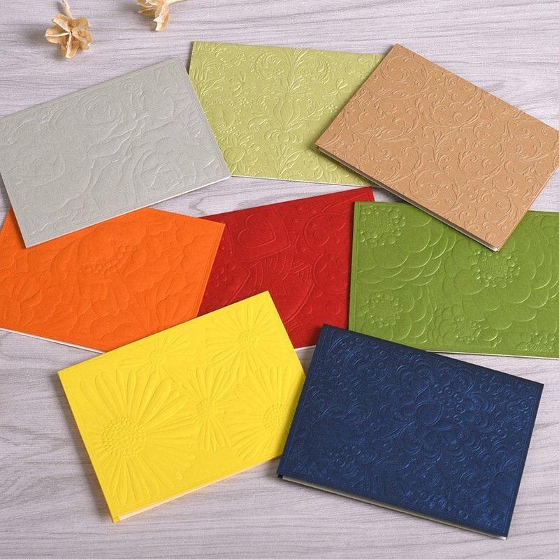 8張帶信封折疊生日小卡片韓國 浮雕留言感謝卡節日祝福卡片嘉義