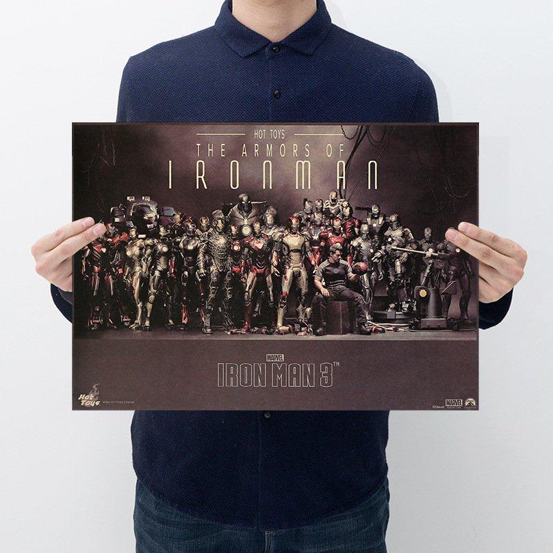 【貼貼屋】MARVEL漫威 鋼鐵人 大集合 超級英雄 死侍 牛皮紙 海報 壁貼 款 電影海報 懷舊復古 A17