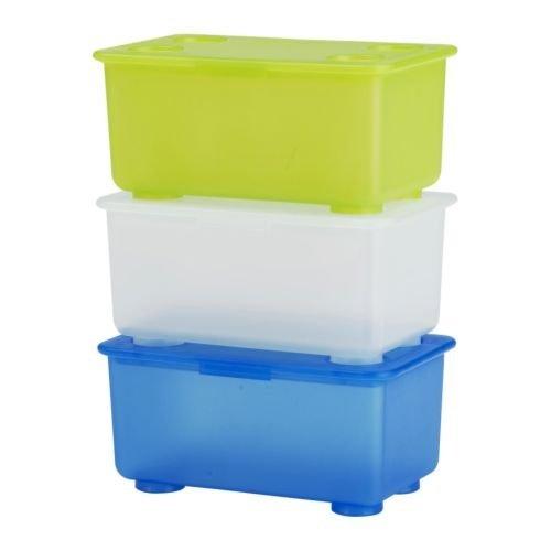 【亮菁菁】Ikea✈GLIS 附蓋收納盒3件裝 17x10 公分 二色可選
