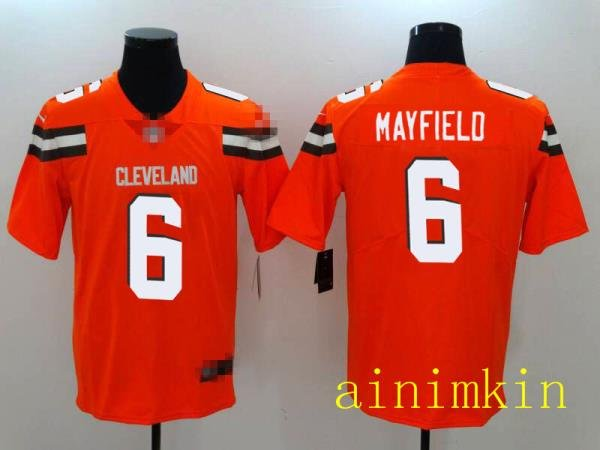 Cleveland Browns Football Jersey Mens and Womens 6 MAYFIELD ainimkin
