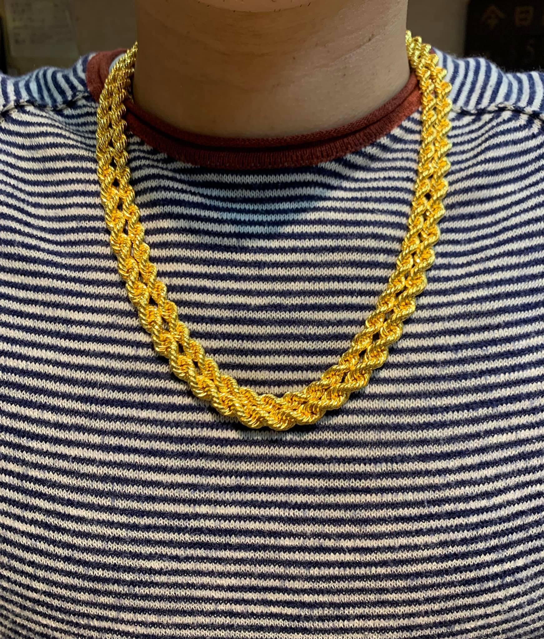 鈿合珠寶純黃金2兩麻花項鍊、3兩麻花項鍊到貨