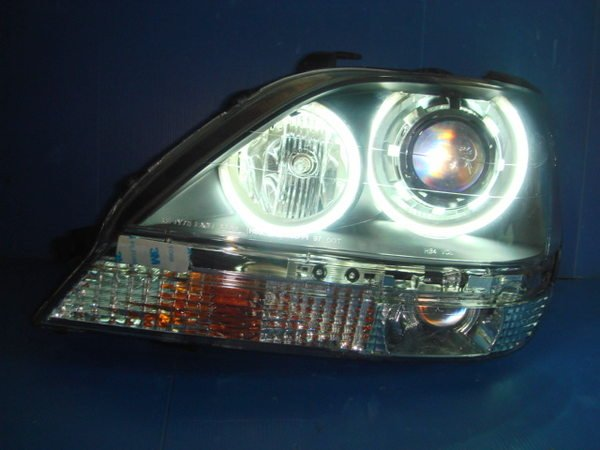 小亞車燈╠ 不一樣的超亮LEXUS RX300 CCFL光圈魚眼黑框大燈