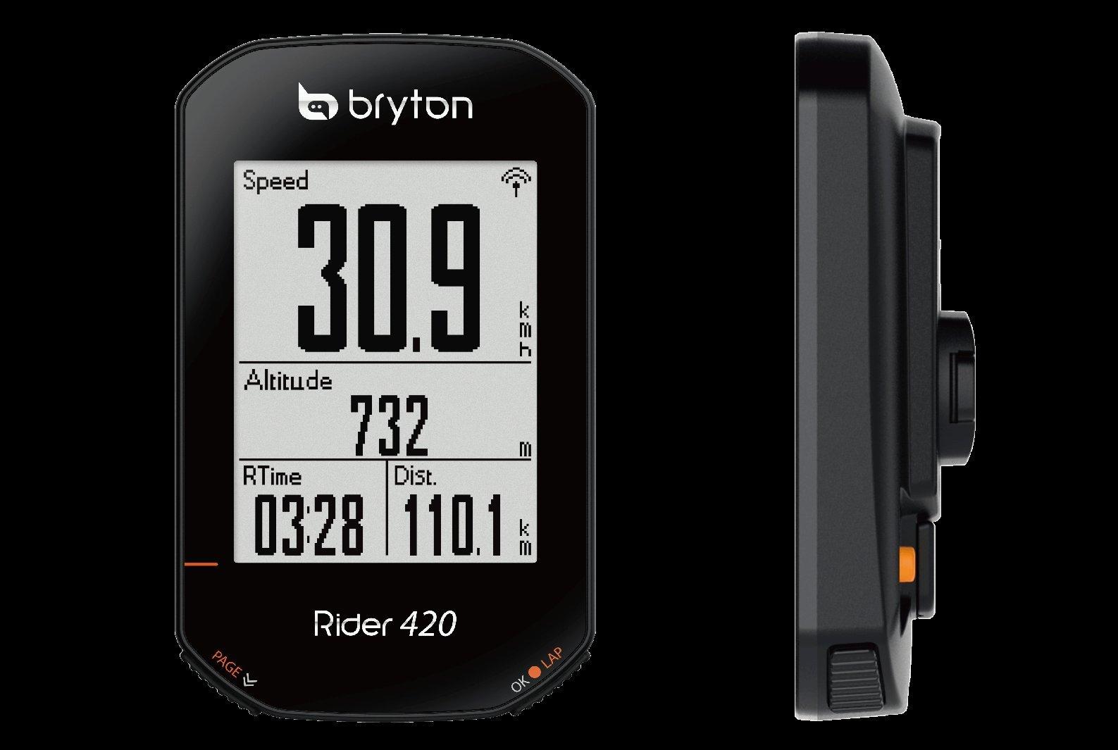 【國旅單車】最新款 BRYTON RIDER 420E 智慧藍芽ATN+ 中文GPS記錄器 特價 黑