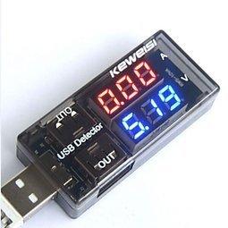 雙USB電流電壓檢測表測試儀 一分二轉接頭 電源性能測試 [264106]