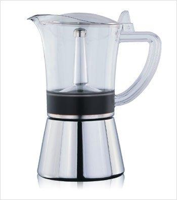 南美龐老爹咖啡 寶馬牌 摩卡壺 和歌山 銀座 4人份 18-0 高效能導磁不銹鋼 加熱 IH爐 迷你瓦斯爐