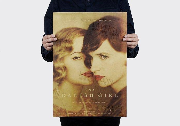 【貼貼屋】丹麥女孩 牛皮紙 海報 奧斯卡 壁貼 款 電影海報 懷舊復古 962