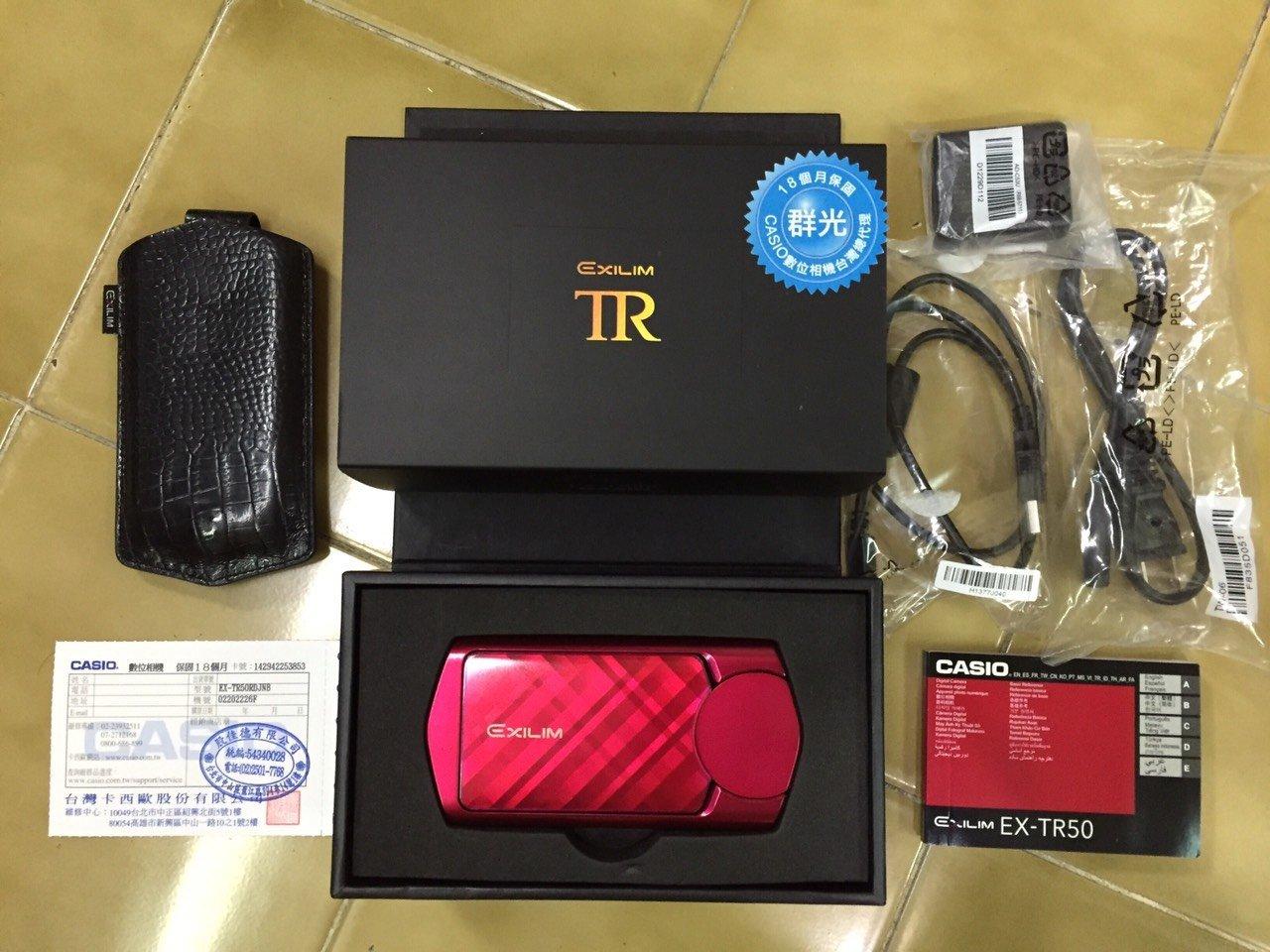 二手 CASIO TR50 EX-TR50 自拍神器 公司貨 紅色