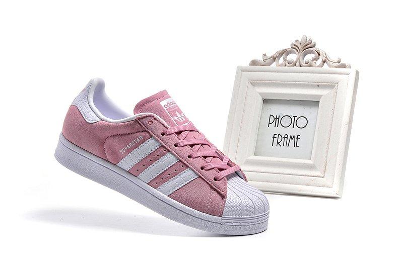 D-BOX  ADIDAS ORIGINALS SUPERSTAR W 愛迪達 貝殼頭 滑板鞋 粉色 三葉草