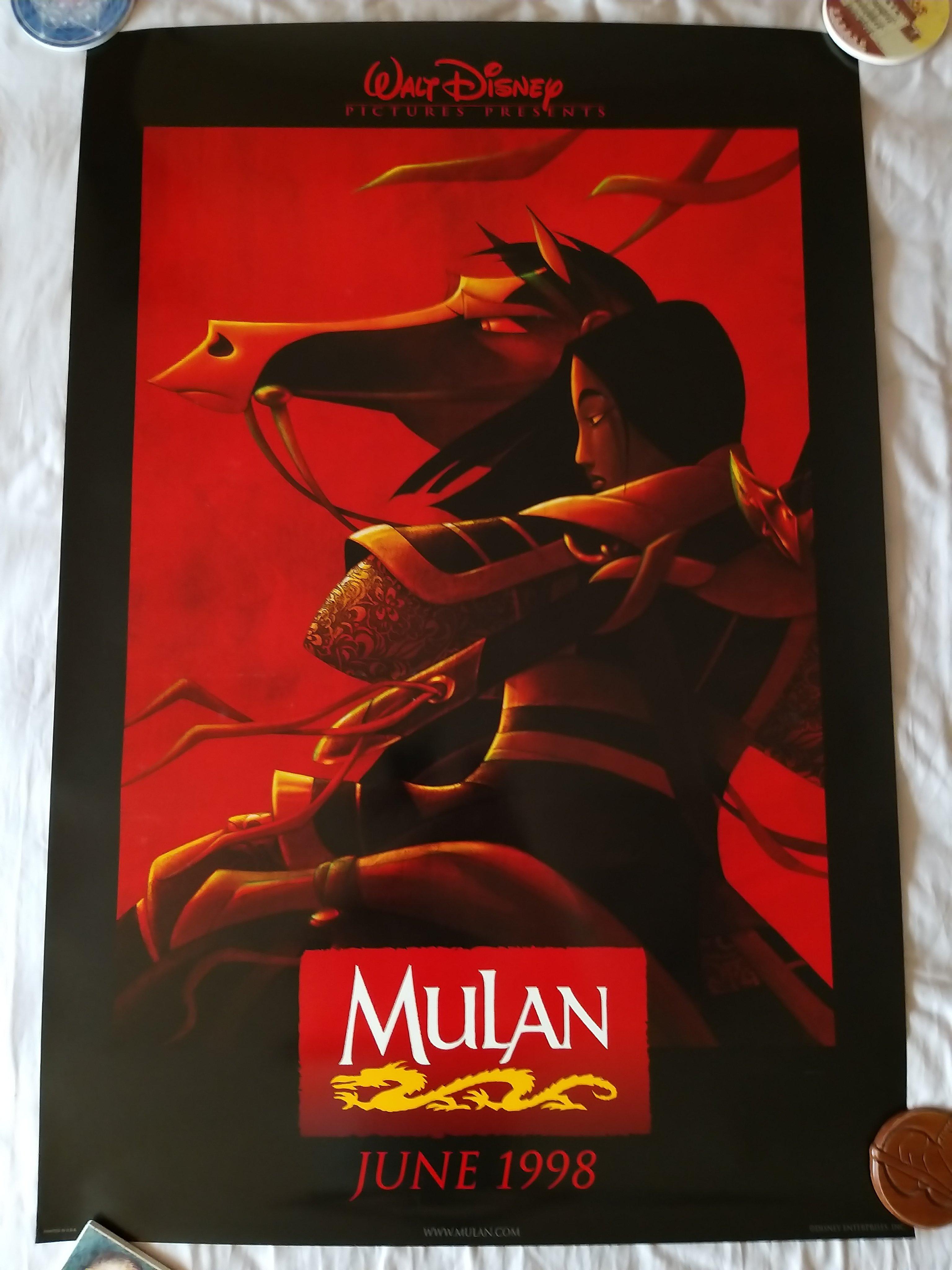 迪士尼 花木蘭 電影海報(預告版 美版雙面)Disney Mulan Original movie poster