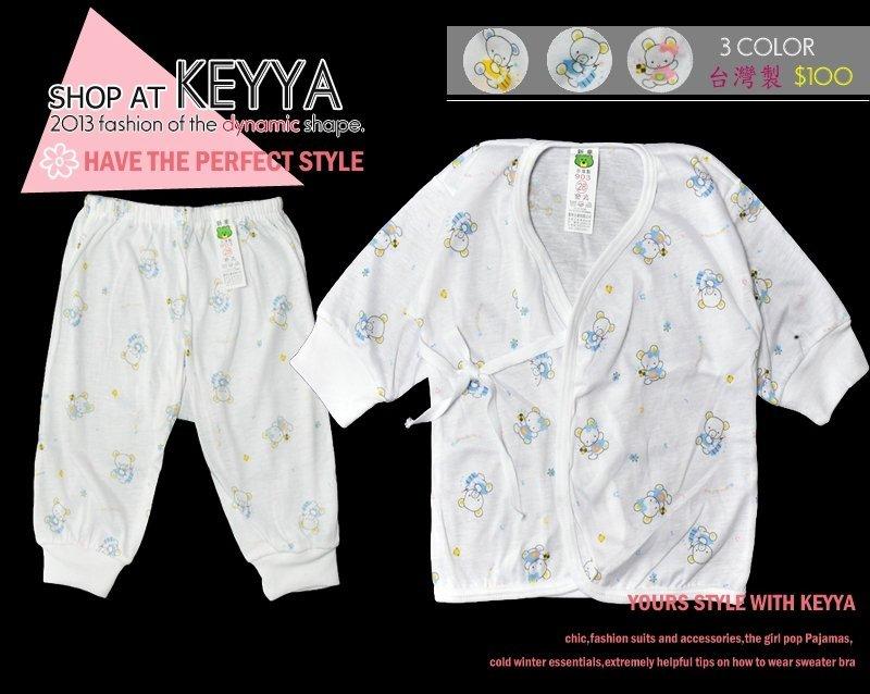 【KEYYA】NO.903 嬰幼童棉質成套睡衣 內衣-藍、紅、黃- 製