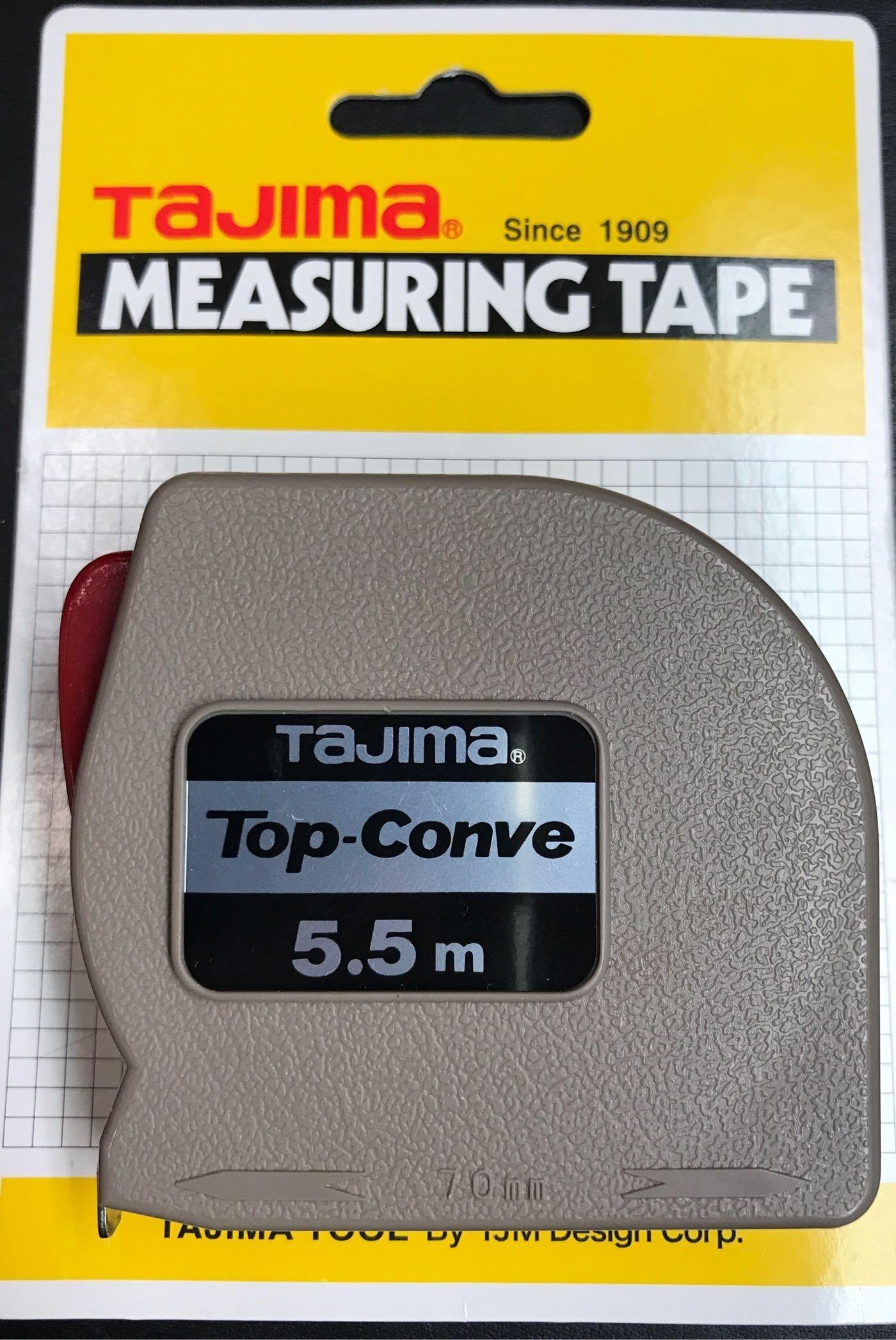 TAJIMA田島 Top-Conve 鋼捲尺 皮尺 捲尺長度5.5M  ---全家店到店取貨,可自行修改合併運費