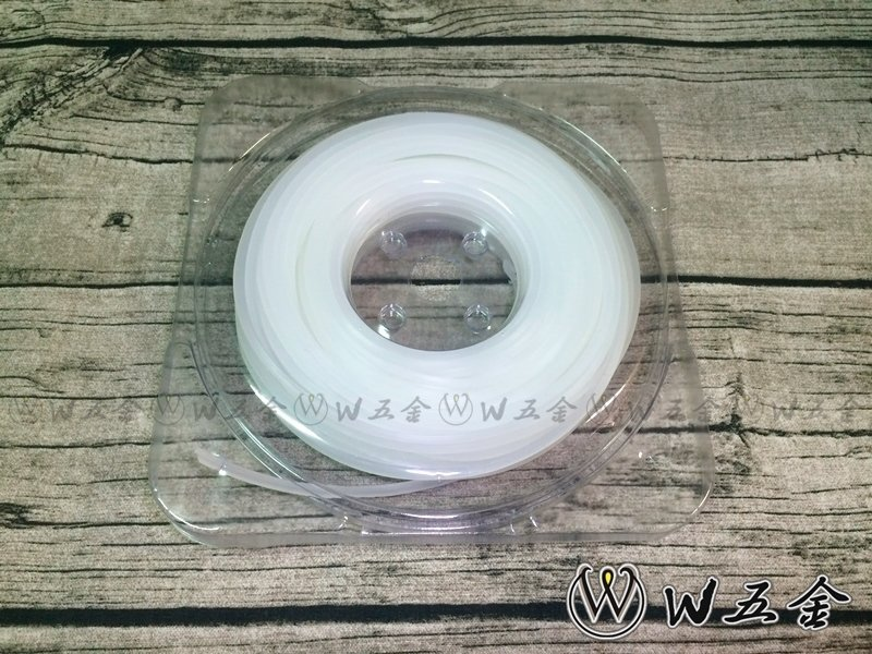 【高雄 W 】附發票*牛筋繩 牛筋條 割草繩 白色 方形 3.2mm 一磅裝*割草機、除草機