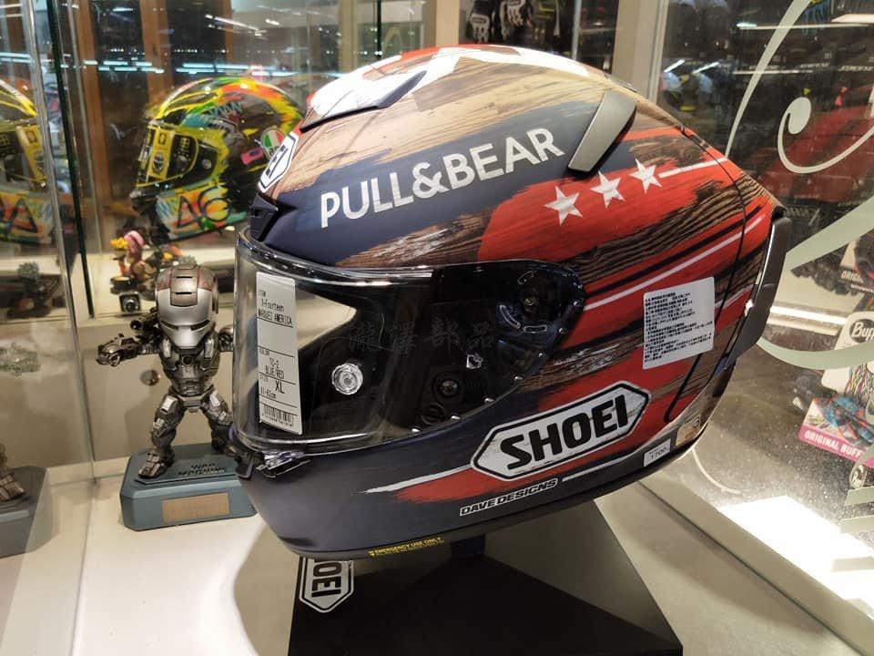 瀧澤部品 日本SHOEI X-14 全罩安全帽 MARQUEZ AMERICA GP 2019美國站MM93 限量 消光