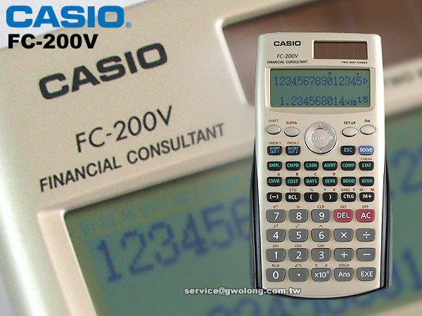 CASIO手錶專賣店 國隆 CASIO FC-200V 財務型計算機_團購有優惠_開發票_保固ㄧ年