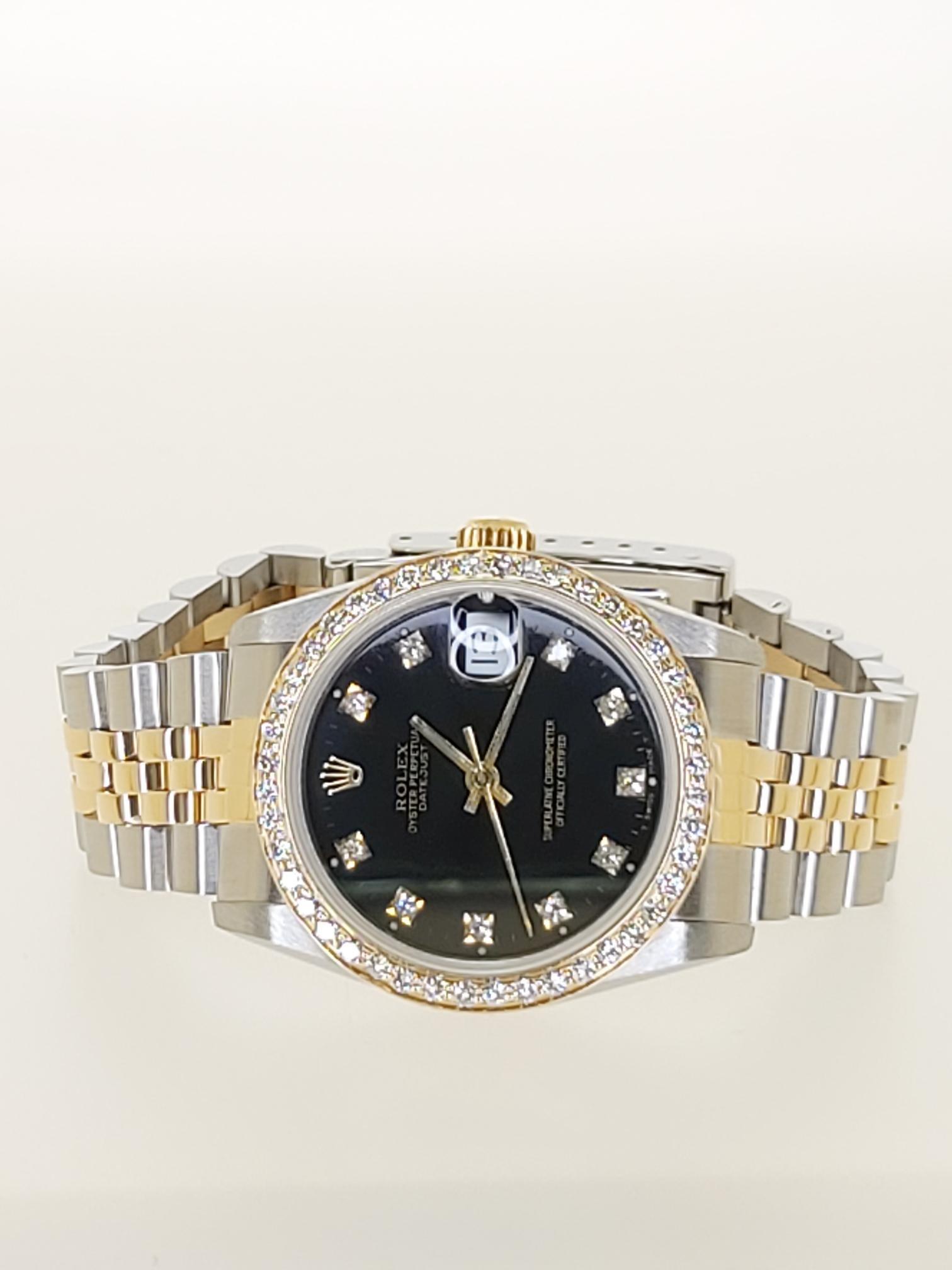 【益成當鋪】流當品 黃白ROLEX 半金68273型勞力士鑽錶 稀有中型黑面
