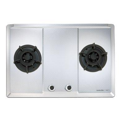 宗霖~SAKURA櫻花G2623S二口大面板易清檯面爐 二口珍珠壓紋不鏽鋼面板瓦斯爐(台北市)