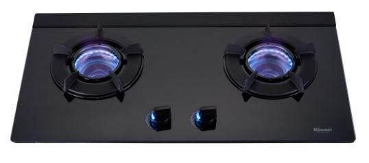 《日成》林內牌.LED旋鈕.內焰二口玻璃檯面式瓦斯爐 RB-N212G(B)