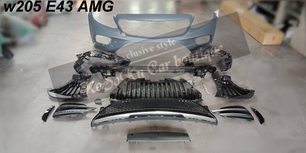 BENZ W205 C180 C300 C400 改 c43AMG C43 AMG 前保桿  保桿 空力套件 現貨