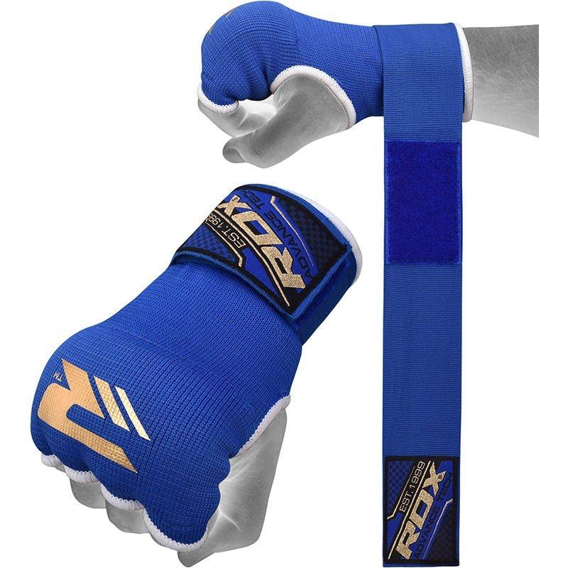 【千里之行】英國RDX半指凝膠拳擊手套內襯套可取代手綁帶繃帶-寶藍-另有重訓手套腰帶