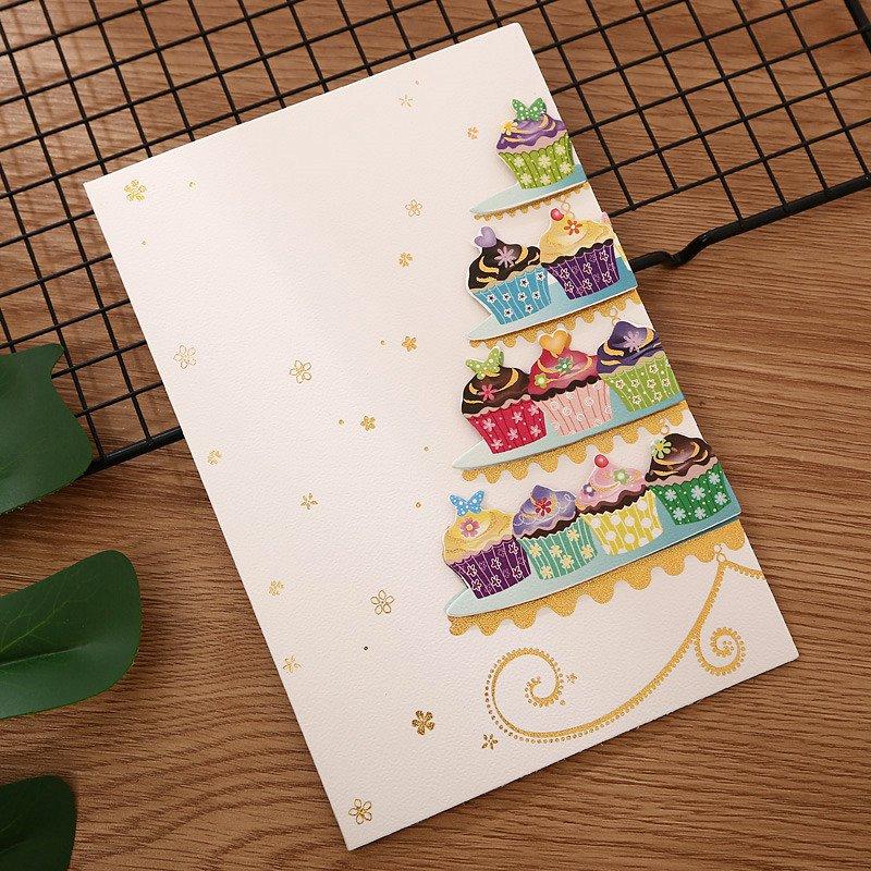 賀卡帶信封折疊小卡片韓國 燙金生日留言卡感謝卡節日祝福卡片嘉義