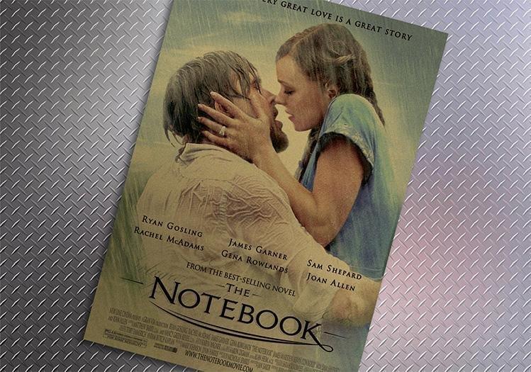 【貼貼屋】手札情緣 The Notebook 懷舊復古 牛皮紙 海報 壁貼 店面裝飾 電影海報 536