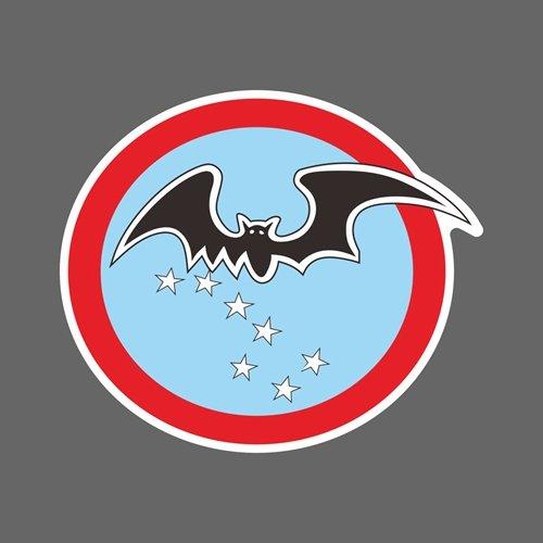 黑蝙蝠中隊 中華民國國軍 隊徽 尺寸90X78mm