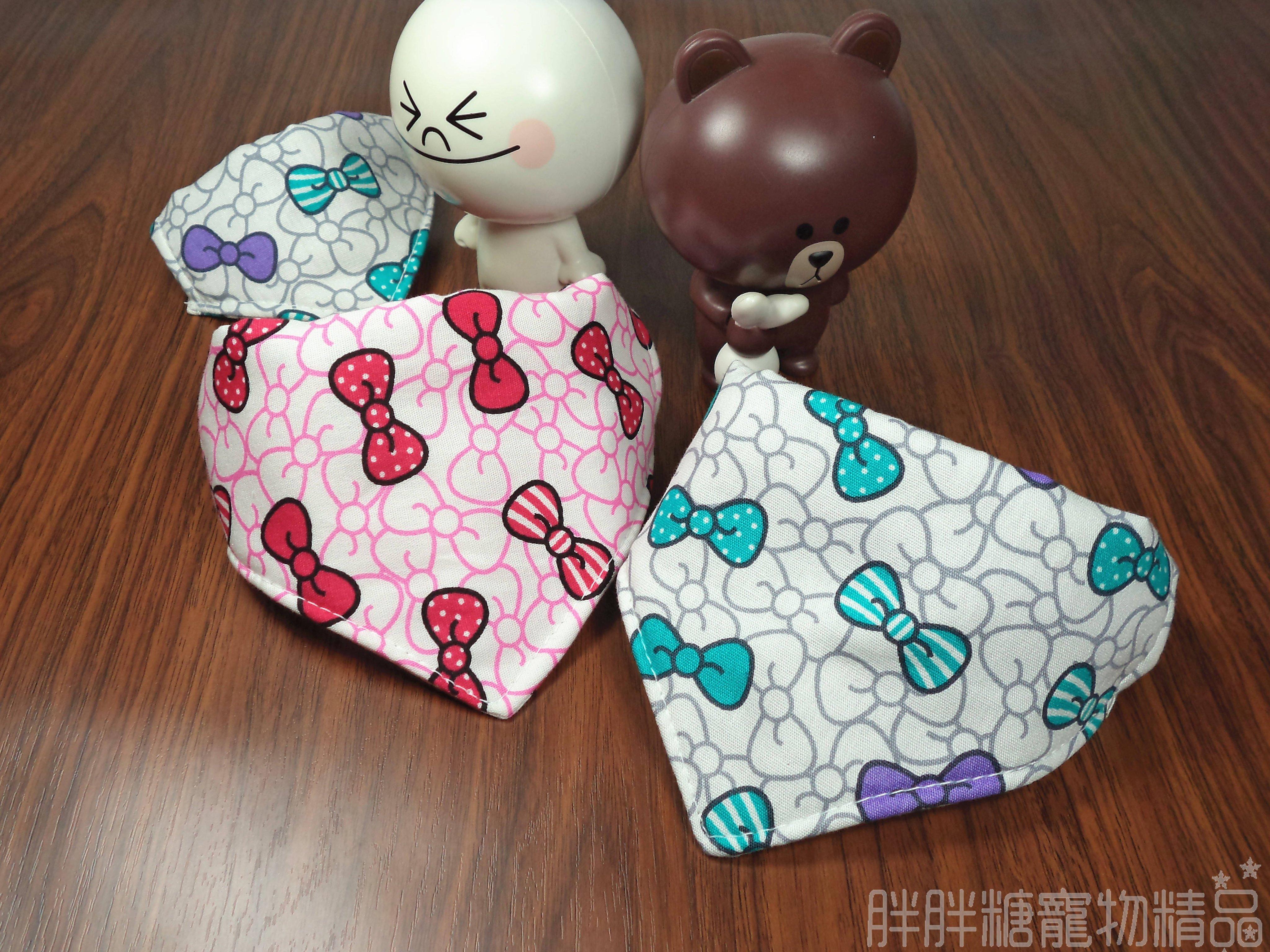 【胖胖糖】Kitty風領巾項圈(XS號)-寵物項圈 可伸縮 大中小型犬 頸圈 貓項圈 狗項圈