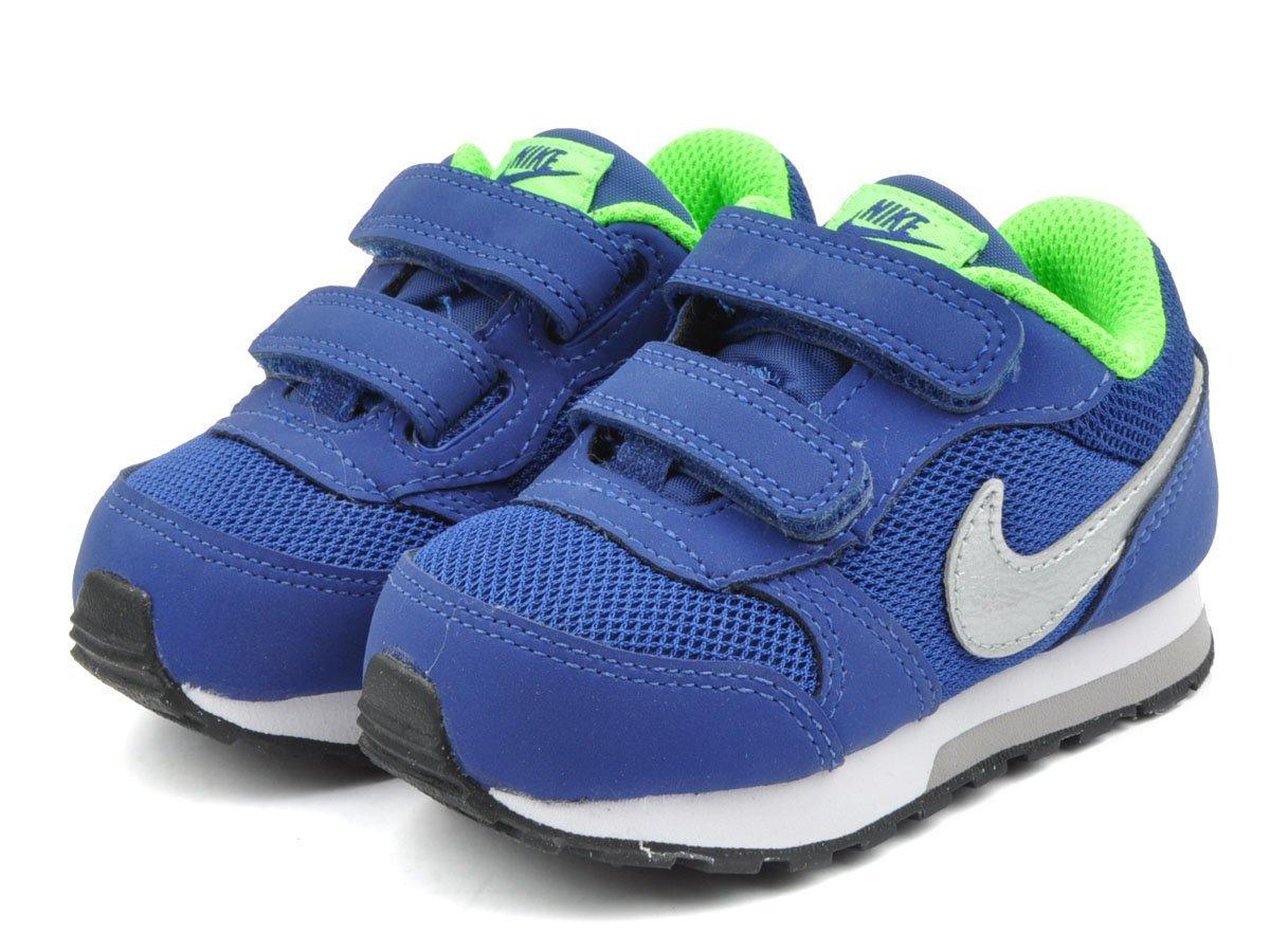 =CodE= NIKE MD RUNNER 2 TDV 魔鬼氈麂皮學步鞋(藍銀綠).806255-400.小童嬰兒.雪碧