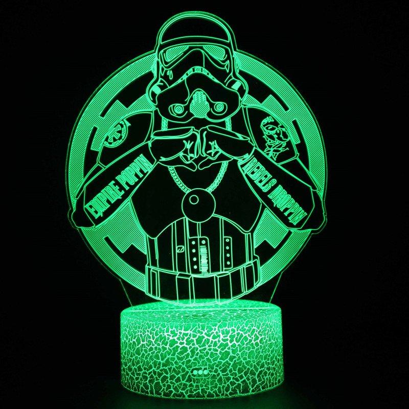 [現貨]星際大戰3D視覺立體燈 帝國風暴兵Storm Trooper七彩漸變氣氛STAR WARS錯覺小夜燈生日交換禮物