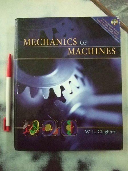 A6cd☆2005年『Mechanics of Machines*有附光碟』Cleghorn著《Oxford》