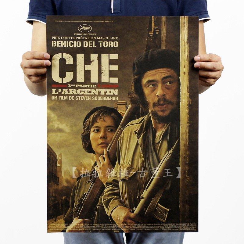 【貼貼屋】革命英雄 切格拉瓦Che Guevara 懷舊復古 牛皮紙海報 壁貼 店面裝飾 電影海報 455