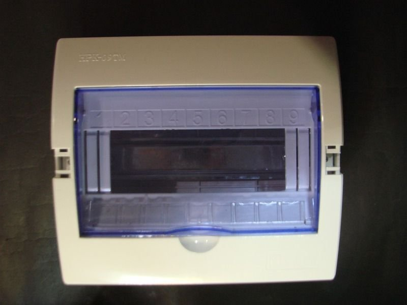 【382】透明開關箱 9迴路配電箱 無熔絲開關箱 開關盒 電控箱 船用開關箱