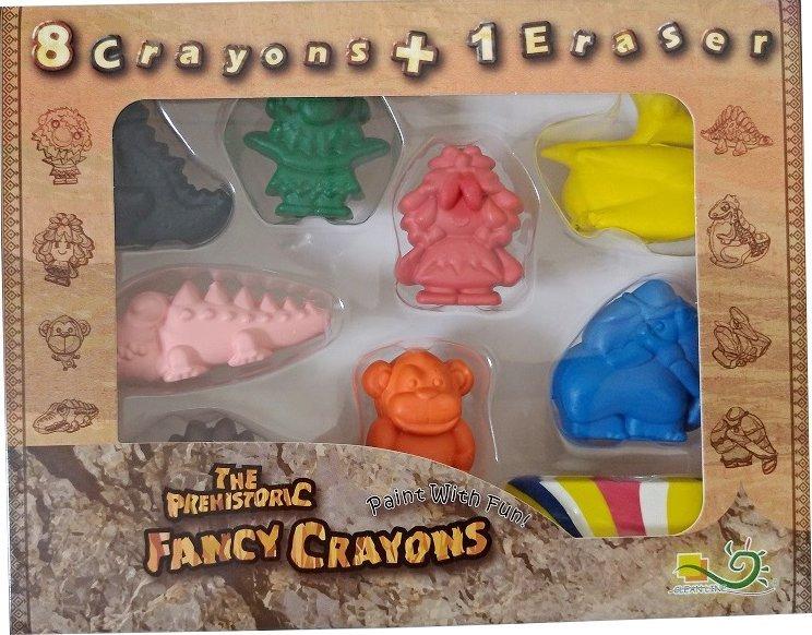 【允拓小舖】原始人蠟筆 8 1盒裝(Polymer可擦拭蠟筆) 環保無毒文具 專賣