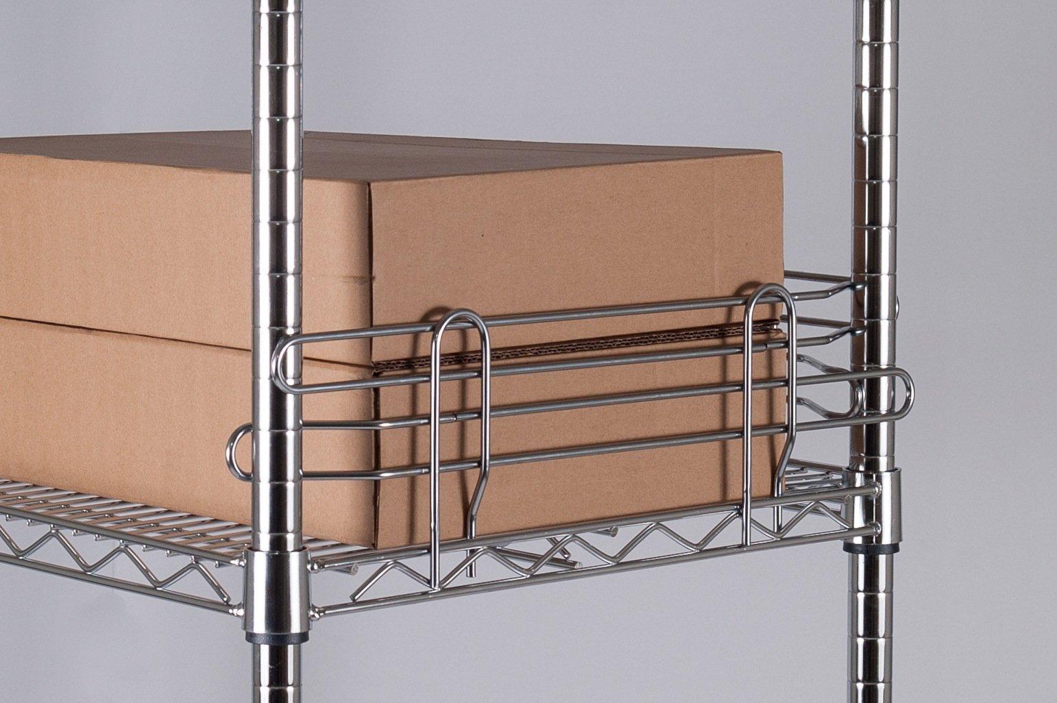 【鐵架工場】新品 - 45cm側擋井字圍籬~圓圍籬~置物架 ~鍍鉻層架~波浪架~鐵架