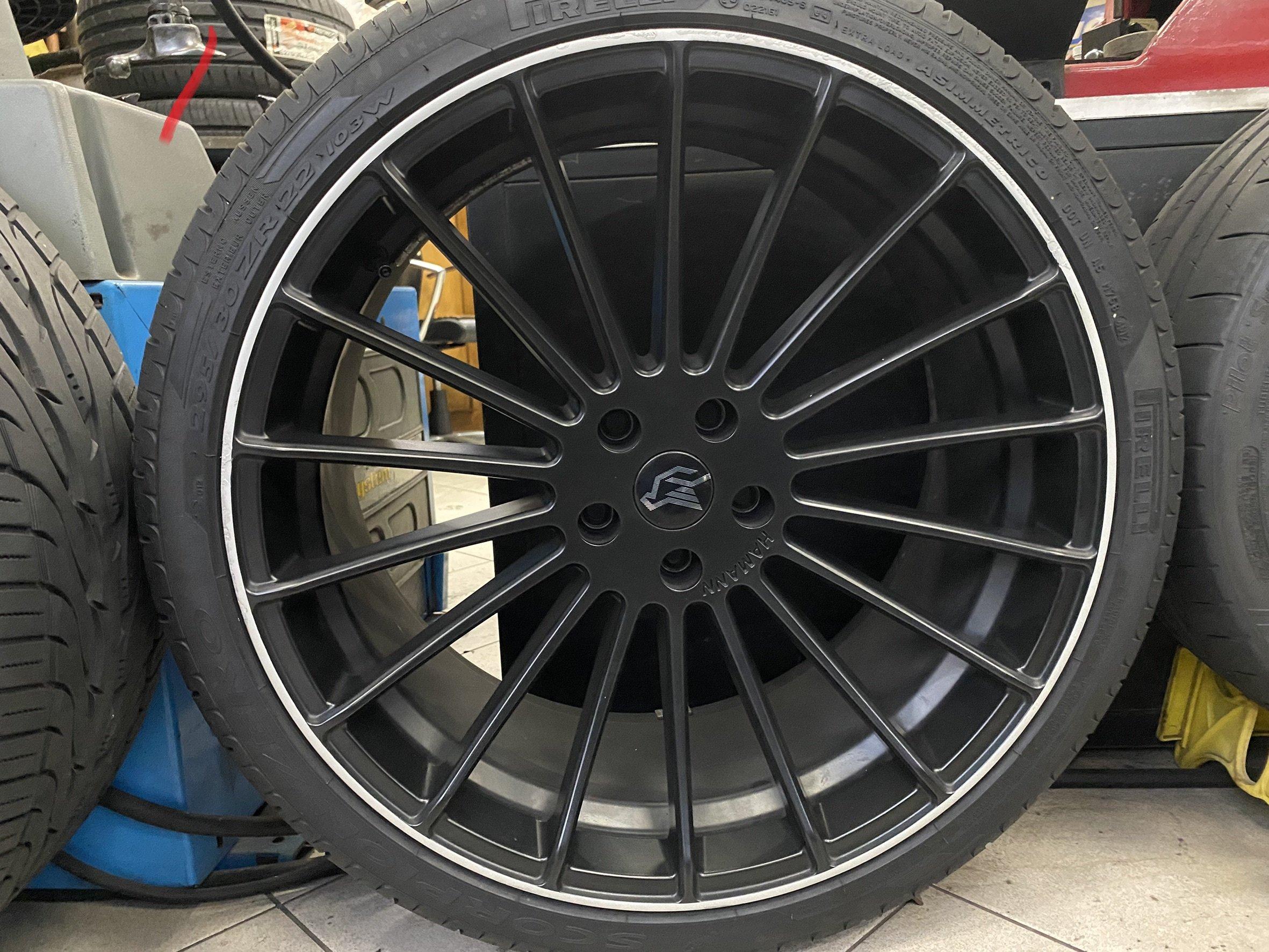 BMW 真品 hamann 22吋鋁圈含倍耐力胎 295-30-22  無前後配    X5 X6