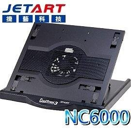 新莊民安《含稅附發票 台灣製造》JetArt 捷藝 NC6000 筆電散熱座 散熱器 六段角度調整 可旋轉 方便攜帶
