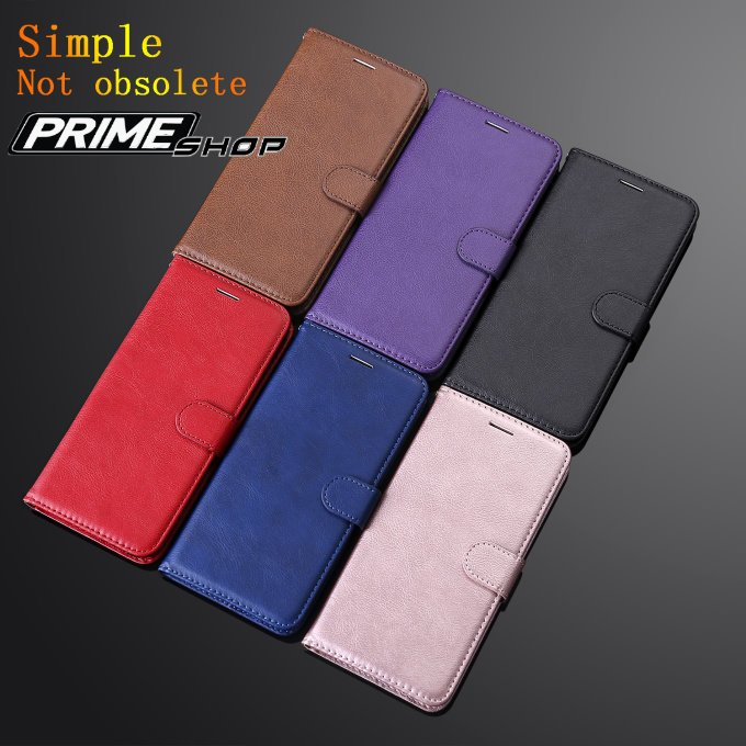 Prime Shop 三星NOTE10 note8 note9 note4 note3純色手機皮套軟保護殼翻蓋插卡支架