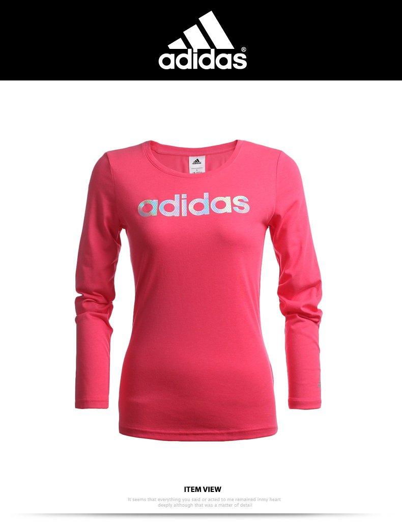 【鞋印良品】adidas 愛迪達 女款 EN LINEAR LS 長袖上衣 Big-O SPORTS AH5673