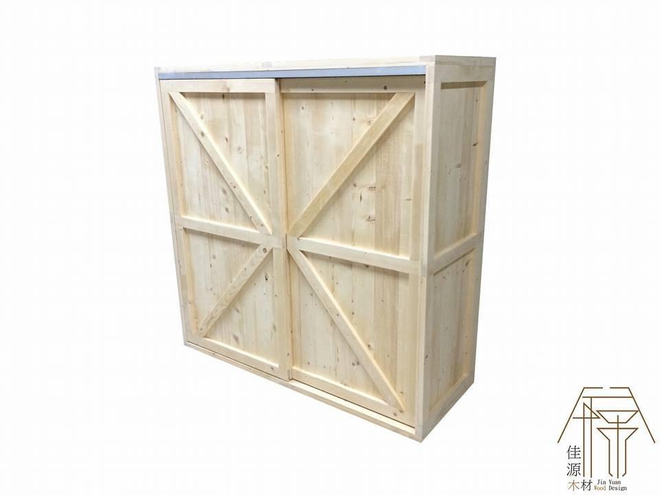 佳源木材衣櫃 拉門 木箱 衣櫥  衣櫃 訂做 工業風 鐵件 3尺 櫥櫃 衣服 收納箱 收納櫃 滑門 滑軌