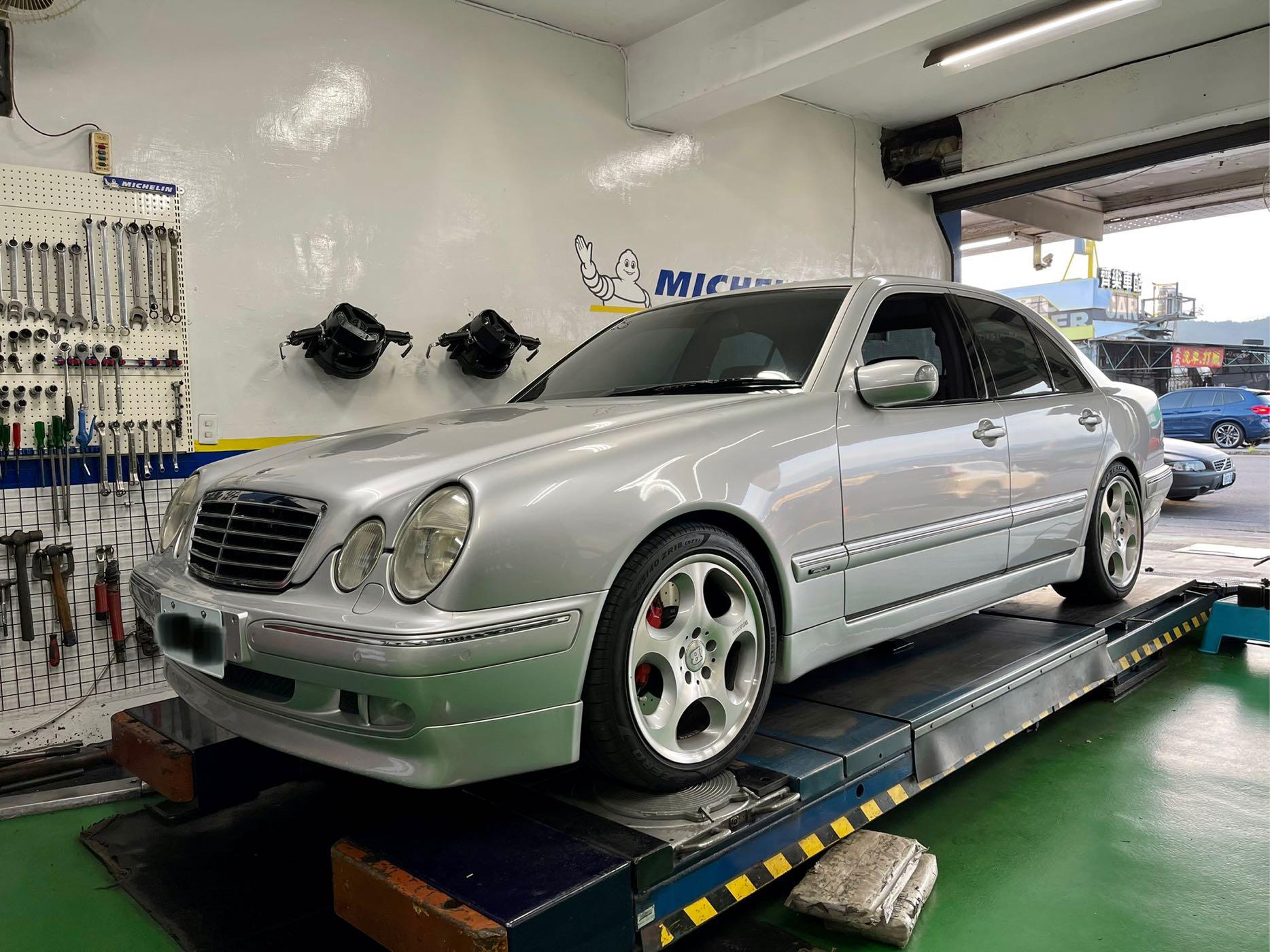 車況優 買回去不用改 2002年 賓士 W210 E280 V6 Avantgarde 18吋BRABUS原漆拋光鋁圈 BRABUS排氣管 AP9040對六卡鉗
