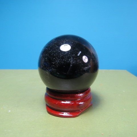 【競礦網】天然漂亮火山(黑色)琉璃球35mm2個(贈座)(親民價、 賣、 10組) 250元