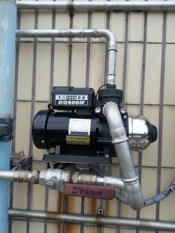 *黃師傅*【木川換裝】舊換新 KQ400N 1/2HP加壓馬達~電子穩壓 不生鏽加壓馬達~東元馬達 KQ400 N