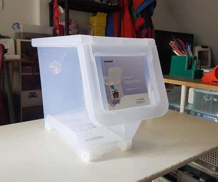 小毛收納館『KEYWAY LF605中直取式收納箱』含稅開發票 聯府 掀蓋式 置物箱 玩具 衣服 16L