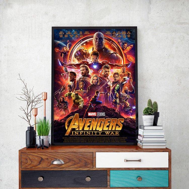 C - R - A - Z - Y - T - O - W - N Avengers復仇者聯盟3電影海報裝飾畫星際異攻隊鋼鐵人索爾美國隊長浩克漫威英雄電影掛畫