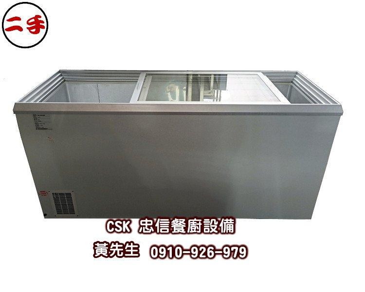 二手-瑞興 冷凍櫃 RS-DF600 台灣製 6尺 拉門式冰櫃 臥式 冰櫃 餐廳 玻璃推拉