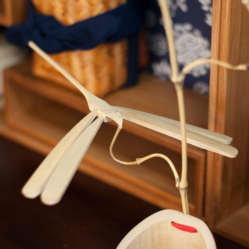【茶嶺古道】平衡竹蜻蜓  民間 藝品 擺件 孟宗竹 竹製玩具 舒壓 減壓 趣味