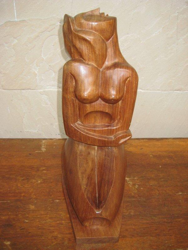 ⭐金壽藝品⭐ 花梨木雕美人香 繆思 Muse, Wood Carving ; Kingshou Antiques