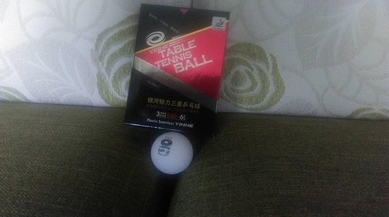 [阿丹桌球]銀河40十無縫塑料三星比賽球 國際版 紅字 一盒6粒170元